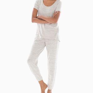 NEW Soma COZY NIGHTS Pajama Set - Pearl Gray